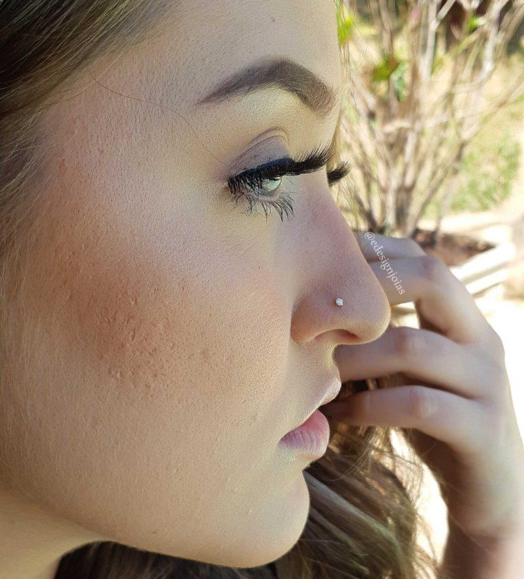 Piercing de nariz com pedra prata 925