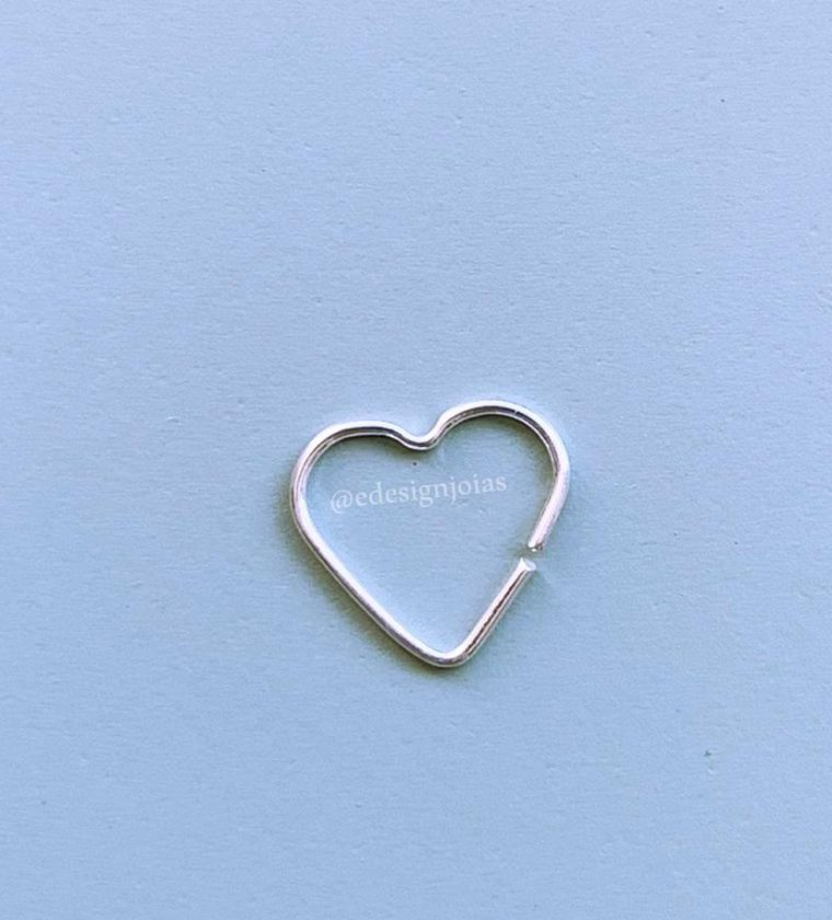 Piercing liso coração P