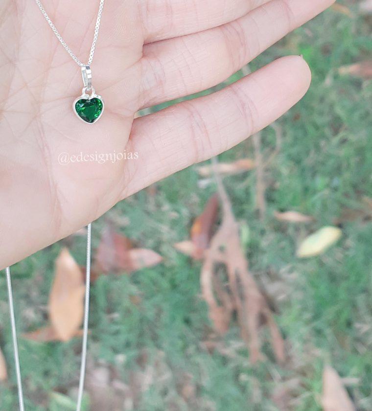Conjunto ponto de luz  Coração Esmeralda